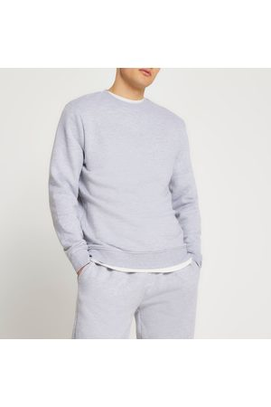 River Island Men Sweatshirts - Mens marl slim fit basic sweatshirt