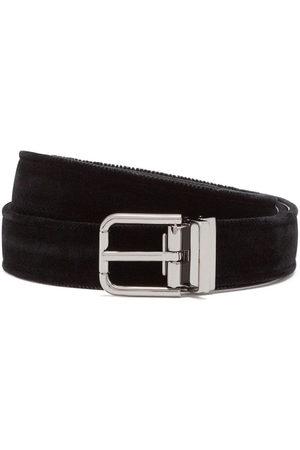 Dolce & Gabbana Men Belts - Velvet leather belt