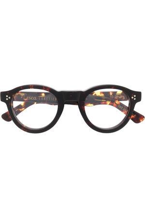 Lesca Gaston round-frame glasses