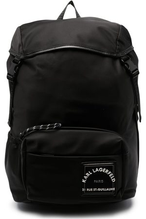Karl Lagerfeld Logo patch backpack