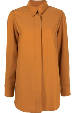 GOODIOUS Twill concealed-button shirt jacket