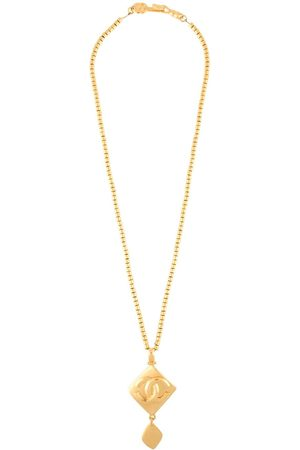 CHANEL 1996 CC rhombus pendant necklace