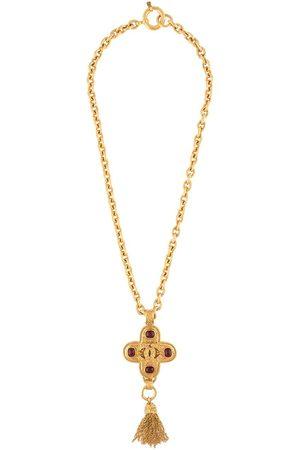 CHANEL 1994 cross pendant chain necklace