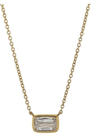 Kwiat Women Necklaces - 18kt yellow diamond bezel set Ashoka pendant necklace