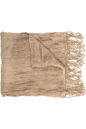Issey Miyake Scarves - 2000s fringed scarf - Neutrals