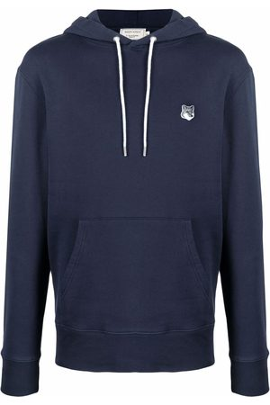 Maison Kitsuné Logo-patch cotton hoodie