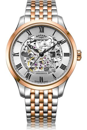 Rotary Watches Rotary Greenwich Automatic Two Tone Rose Watch
