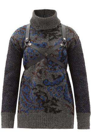 Junya Watanabe Harness Harness Paisley-jacquard Wool Sweater - Womens