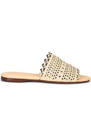 Alaïa Raffia Sandals in Desert