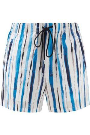 Christopher Kane Striped Cotton-poplin Shorts - Womens