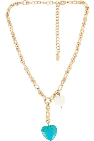 Ettika Turquoise Heart Lariat Necklace in .