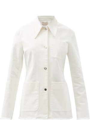 Christopher Kane Patch-pocket Organic-cotton Twill Jacket - Womens