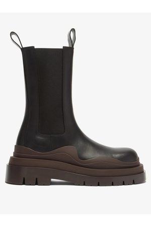 Bottega Veneta Bv Tire Leather Chelsea Boots - Womens