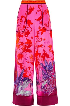 Camilla Woman Printed Silk Crepe De Chine Wide-leg Pants Bright Size S