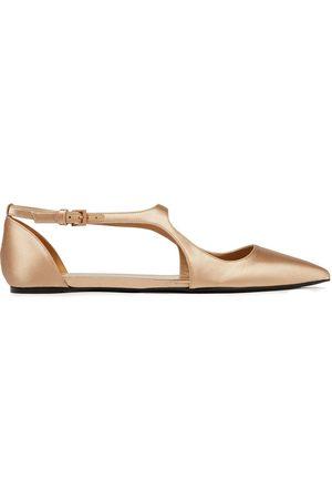 ZIMMERMANN Woman Satin Point-toe Flats Sand Size 36