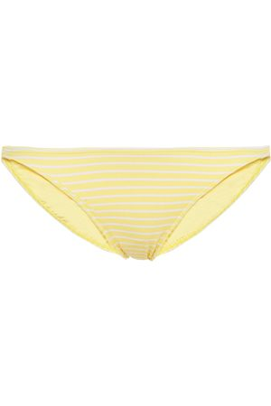 ONIA Woman Ashley Striped Ribbed Low-rise Bikini Briefs Size L