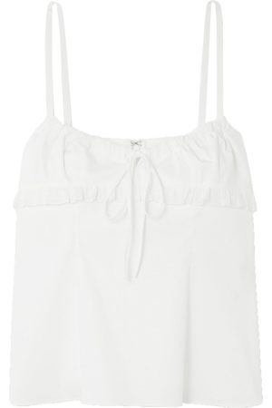 BROCK COLLECTION Woman Lace-trimmed Stretch-cotton Camisole Size 10