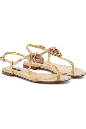 Dolce & Gabbana Devotion leather thong sandals