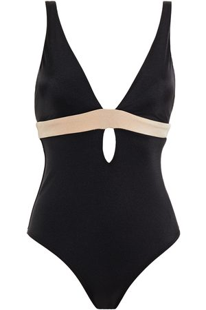 JETS Woman Cutout Two-tone Swimsuit Size 10