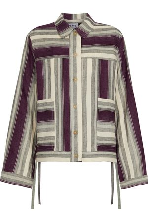 Loewe Paula's Ibiza striped linen and cotton jacket