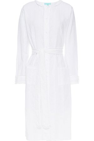 Melissa Odabash Woman Patty Belted Broderie Anglaise Cotton Dress Size L