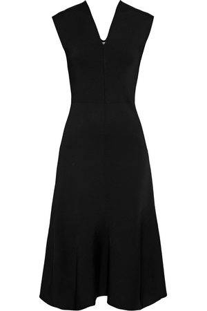 Victoria Beckham Woman Fluted Stretch-knit Dress Size L