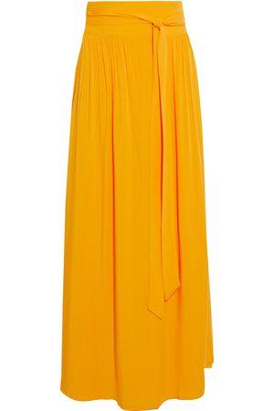 Melissa Odabash Woman Elsa Wrap-effect Voile Maxi Skirt Saffron Size L