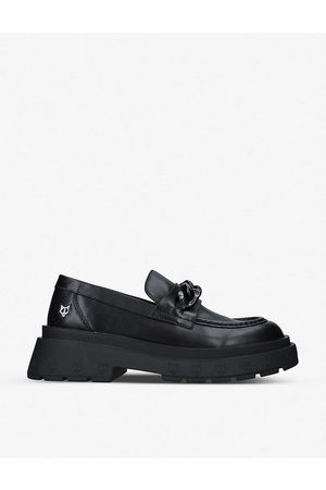 Naked Wolfe Amalfi chain-detail platform leather loafers