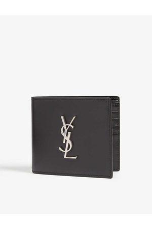 Saint Laurent Monogram logo leather wallet