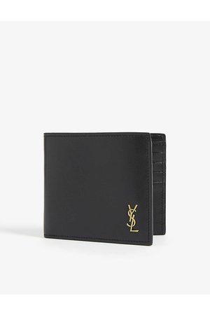 Saint Laurent YSL logo leather bifold wallet