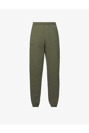 Pangaia Text-print high-rise recycled and organic cotton-blend jogging bottoms