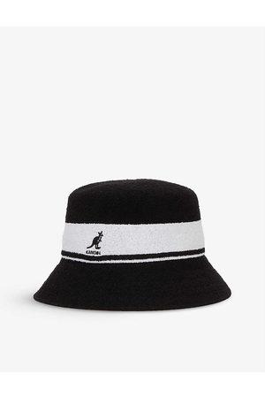 Kangol Bermuda striped logo-embroidered felt bucket hat