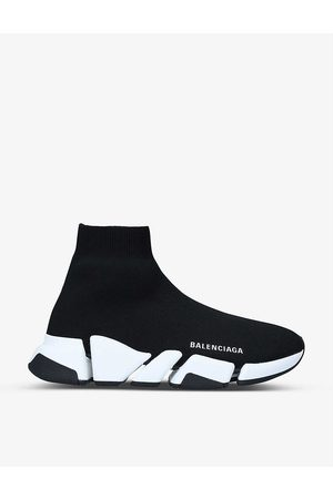 Balenciaga Women Tops - Women's Speed 2.0 stretch-knit mid-top trainers