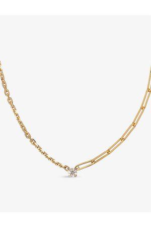 YVONNE LÉON Collier Solitaire 18ct - and 0.10ct diamond necklace