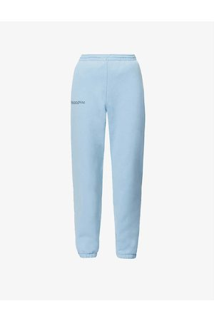 Pangaia Text-print mid-rise recycled and organic cotton-blend jogging bottoms