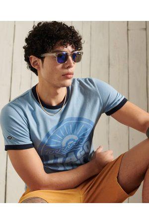 Superdry Men Short Sleeve - Cali Surf Graphic Ringer T-Shirt