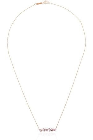 Suzanne Kalan Women Necklaces - 18kt rose gold sapphire bar necklace