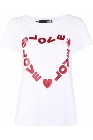 Love Moschino Women Short Sleeve - Logo-print crew-neck T-shirt