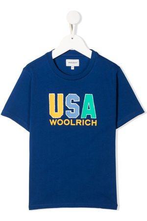Woolrich Kids Boys Short Sleeve - USA logo print T-shirt