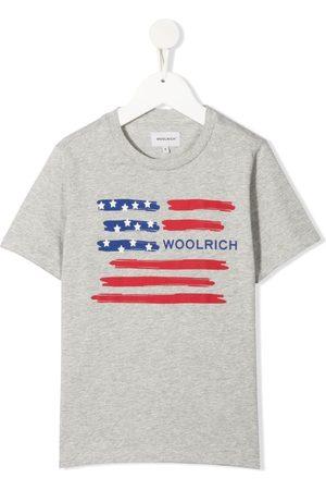 Woolrich Kids Boys Short Sleeve - Logo flag T-shirt