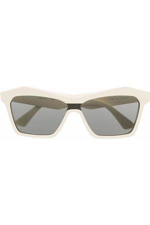 Bottega Veneta Square-frame sunglasses - Neutrals