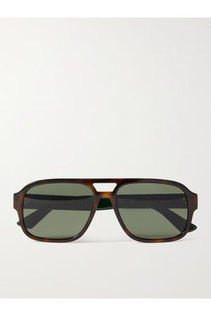 Gucci Aviator-Style Tortoiseshell Acetate Sunglasses