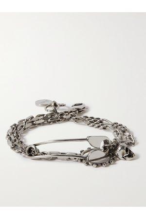 Alexander McQueen Men Bracelets - Burnished -Tone Wrap Bracelet