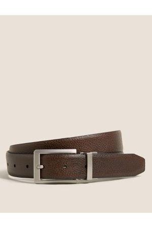 Marks & Spencer Men Belts - Mens Leather Reversible Textured Belt - 30-32 - / , /