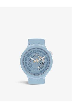 Swatch Men Watches - SB03B100 C- silicone chronograph watch