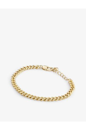 Oma The Label Cuban-link 18ct -plated brass bracelet