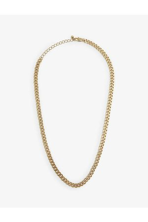Oma The Label Cuban-link 18ct -plated brass necklace