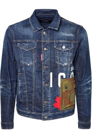 Dsquared2 Icon Print Camo Cotton Denim Jacket