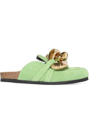 J.W.Anderson Women Sandals - 15mm Embellished Suede Mules