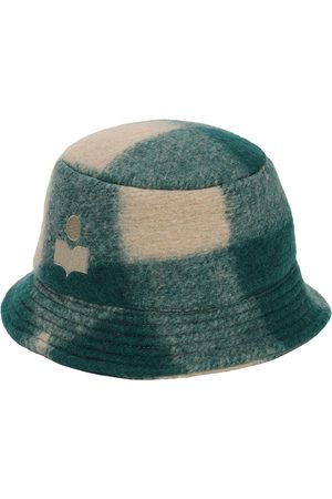 Isabel Marant Women Hats - Haley Checked Wool Blend Bucket Hat